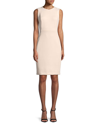 Calvin Klein Sleeveless Sheath Dress-PINK-8