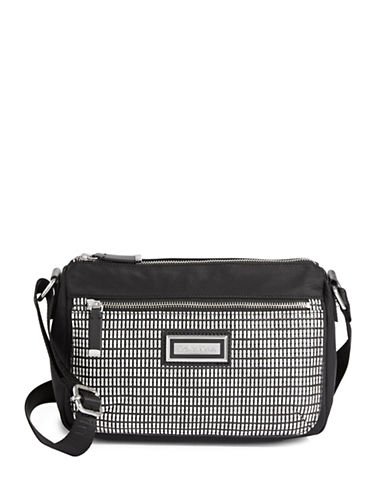 Calvin Klein Checkered Crossbody Bag-WHITE/BLACK-One Size