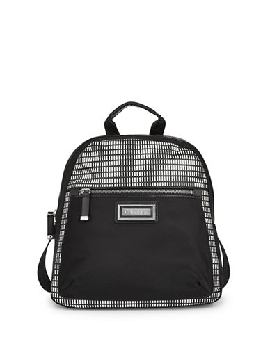Calvin Klein Checkered Backpack-WHITE/BLACK-One Size