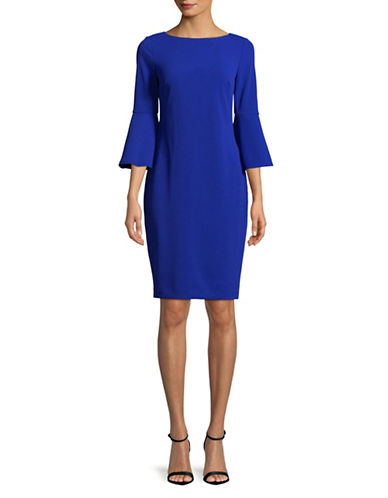 Calvin Klein Bell Sleeve Sheath Dress-BLUE-4