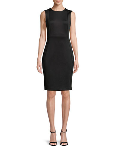 Calvin Klein Sleeveless Sheath Dress-BLACK-8