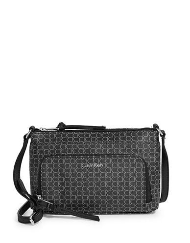 Calvin Klein Monogram Crossbody Bag-DOT BLACK-One Size