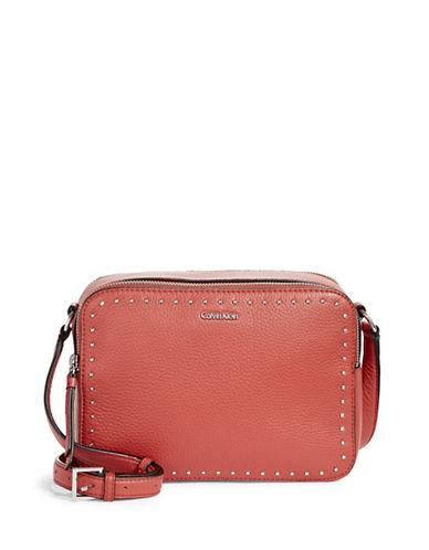 Calvin Klein Textured Zippered Camera Bag-ORANGE-One Size