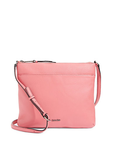 Calvin Klein Pebble Leather Crossbody-PASTEL PINK-One Size
