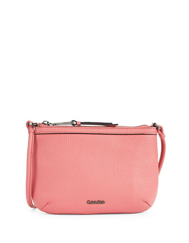 Calvin Klein Pebble Crossbody Bag-PASTEL PINK-One Size