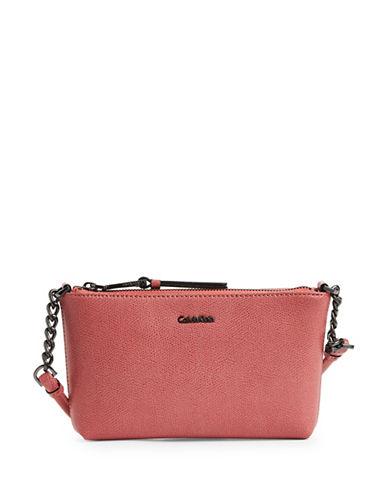Calvin Klein Chain-Strap Metallic Crossbody-DAHLIA-One Size