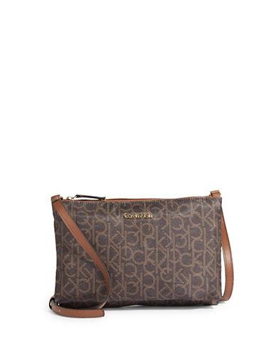 Calvin Klein Pebble Crossbody Bag-BROWN-One Size