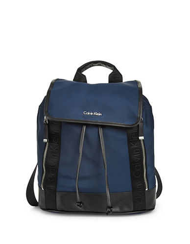 Calvin Klein Web Flap Backpack-NAVY-One Size