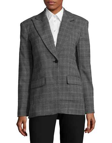 Calvin Klein Glen Plaid Jacket-BLACK/CHARCOAL-2