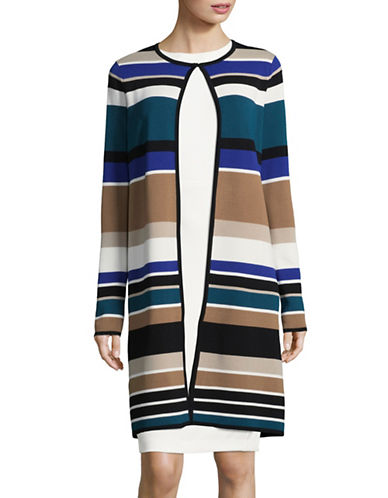 Calvin Klein Striped Longline Cardigan-MULTI-Large