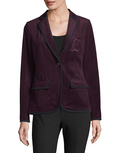 Tommy Hilfiger Tipped Velvet Blazer-PURPLE-10