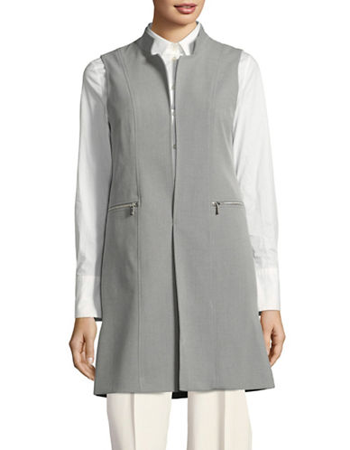 Calvin Klein Long Tailored Vest-SILVER-2