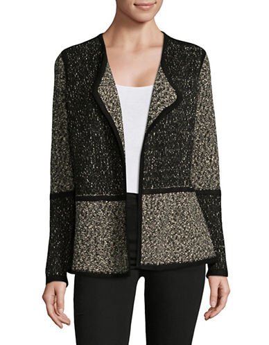 Calvin Klein Colourblocked Fly Cardigan-BLACK-Medium