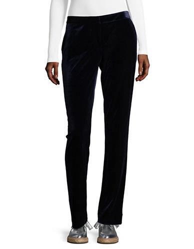 Calvin Klein Velvet Pants-BLUE-10