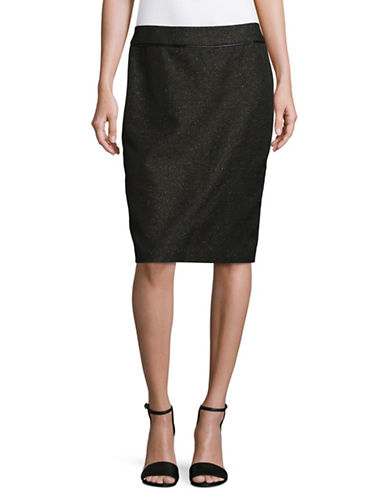 Calvin Klein Slim Melange Skirt-BLACK-6