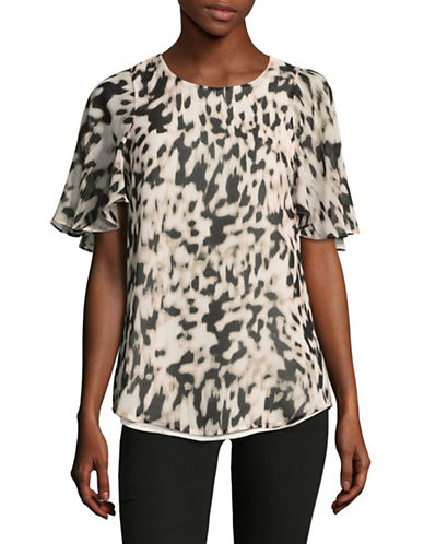 Calvin Klein Leopard Print Tunic-BROWN-Small