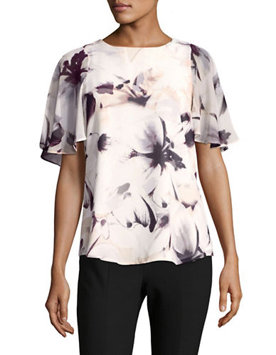 Calvin Klein Floral Print Tunic-PINK-X-Small