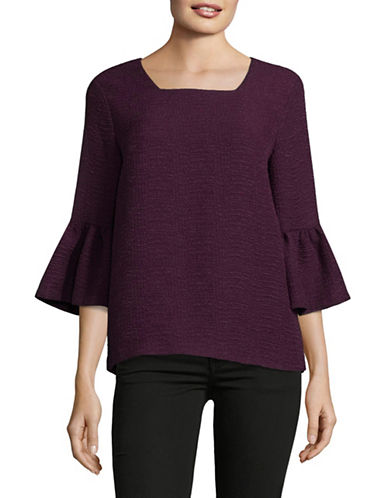 Calvin Klein Bell Sleeve Tunic-PURPLE-Small