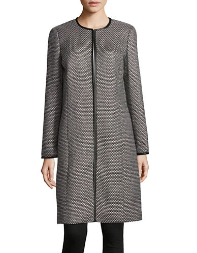 Calvin Klein Tweed Open Duster Jacket-MULTI-2