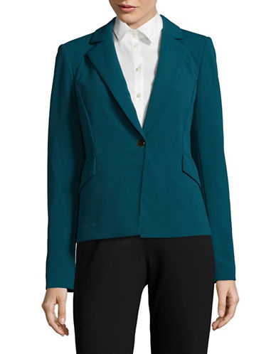 Calvin Klein Scuba Crepe Jacket-GREEN-4