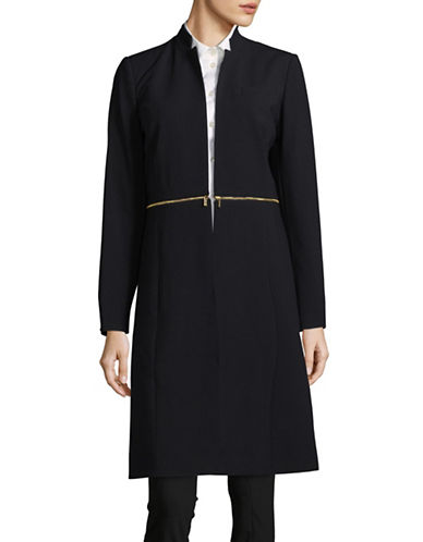 Calvin Klein Lux Long Jacket-BLUE-4