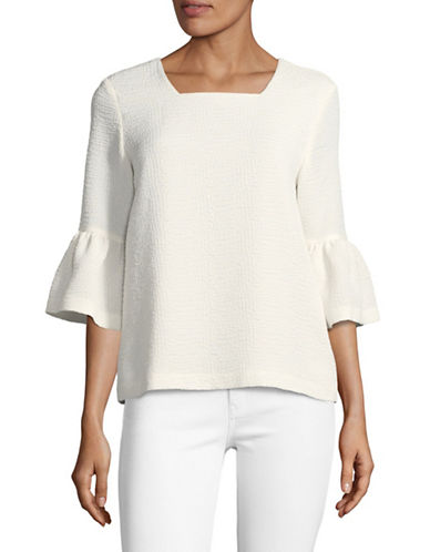 Calvin Klein Bell Sleeve Tunic-WHITE-Small