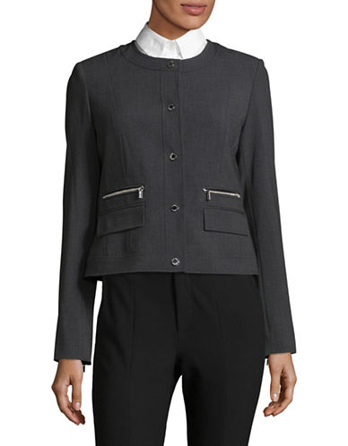 Calvin Klein Twill Zip-Pocket Jacket-GREY-10