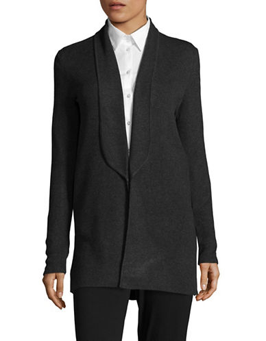 Calvin Klein Shawl Neck Cardigan Jacket-GREY-X-Small