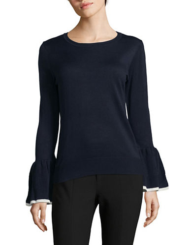 Tommy Hilfiger Bell-Sleeve Sweater-BLUE-Small