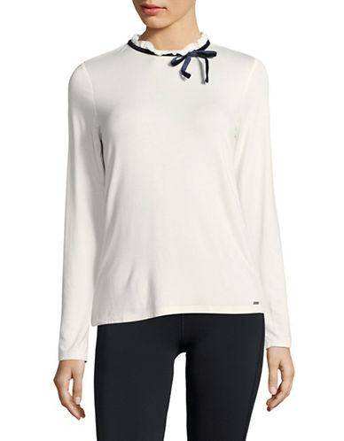 Tommy Hilfiger Long Sleeve Blouse-IVORY-X-Small