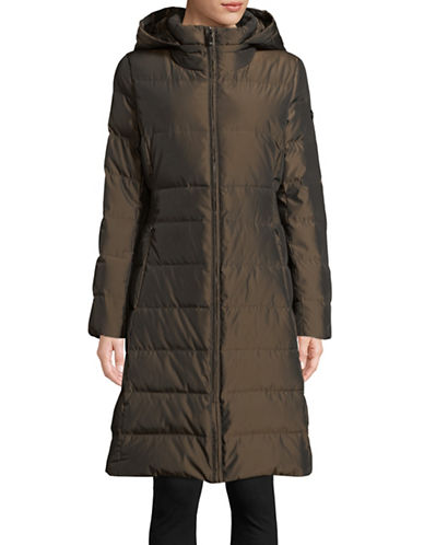 Calvin Klein Hooded Down Jacket-BROWN-Small 89810355_BROWN_Small