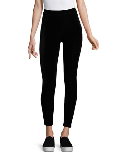 Calvin Klein Velvet Stretch Leggings-BLACK-Medium 89600345_BLACK_Medium