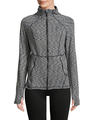 Calvin Klein Performance Sporty Zip Jacket-GREY-Large