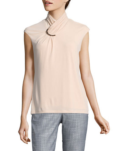 Calvin Klein Sophisticated Top-BLUSH-X-Large