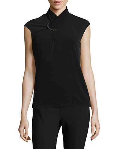 Calvin Klein Sophisticated Top-BLACK-Medium