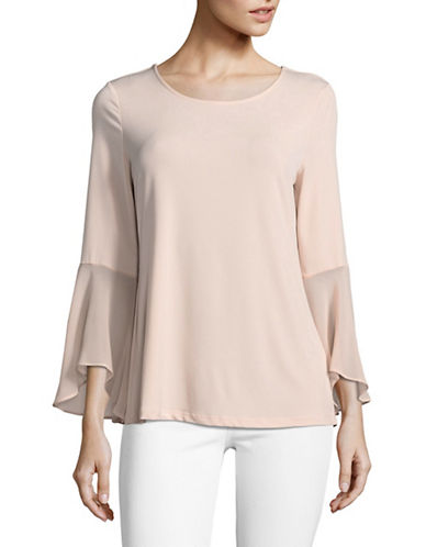 Calvin Klein Flare Sleeve Blouse-PINK-Medium