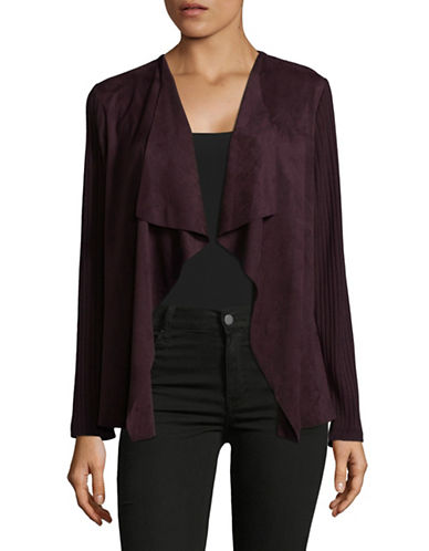 Tommy Hilfiger Cozy Cardigan-BLACK CURRANT-Small