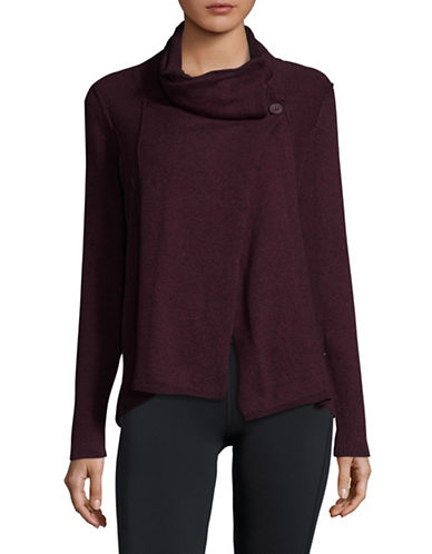 Calvin Klein Performance Cowl Neck Cotton Sweater-RED-Small