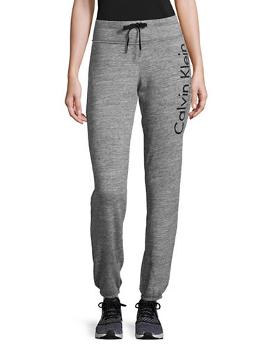 Calvin Klein Performance Cotton Jogger Pants-GREY-Large