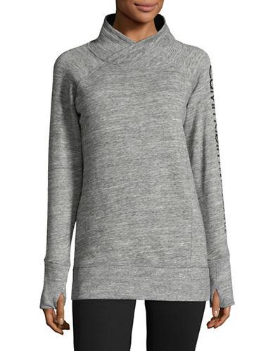 Calvin Klein Performance Cotton-Blend Mock Neck Pullover-LIGHT GREY-X-Large