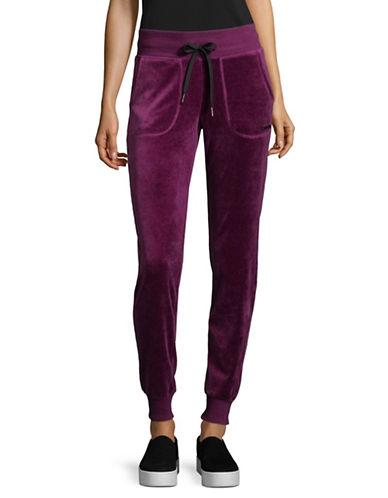 Calvin Klein Performance Slim Velour Track Pants-PURPLE-Large 89694334_PURPLE_Large