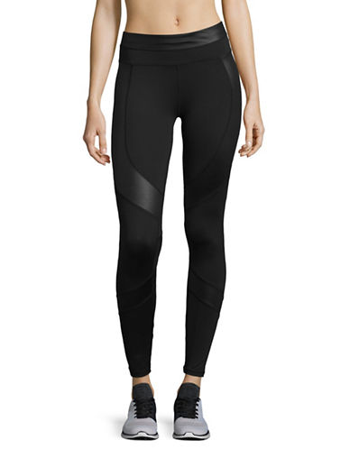 Calvin Klein Performance Print Blocked Capri Leggings-BLACK-X-Large
