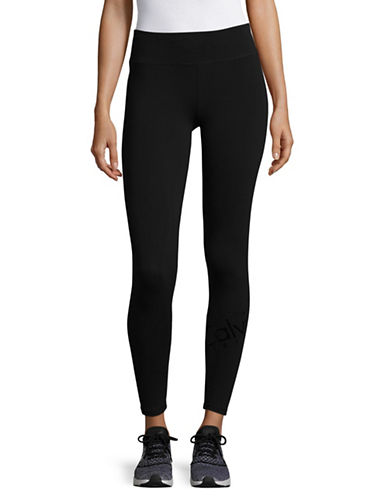 Calvin Klein Performance Velour Leggings-BLACK-X-Small 89572791_BLACK_X-Small