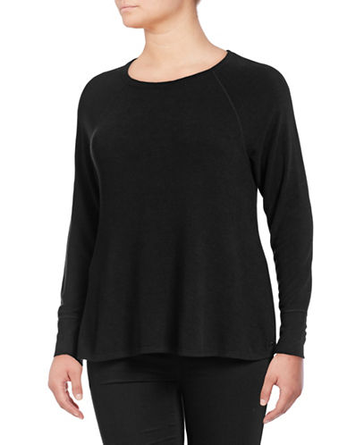 Calvin Klein Performance Plus Raglan Stretch Tee-BLACK-1X 89672678_BLACK_1X