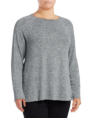 Calvin Klein Performance Plus Raglan Stretch Tee-STONE-1X 89672685_STONE_1X