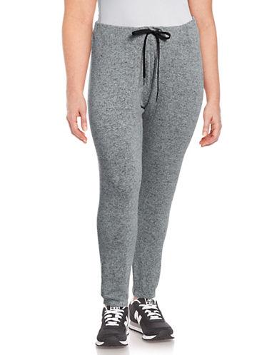 Calvin Klein Performance Plus Skinny Drawstring Sweatpants-STONE-2X