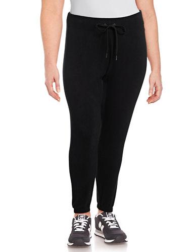Calvin Klein Performance Plus Skinny Drawstring Sweatpants-BLACK-1X