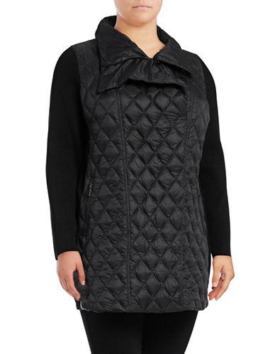 Calvin Klein Performance Plus  Down Walker Coat-BLACK-1X 89672699_BLACK_1X