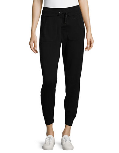 Calvin Klein Performance Cropped Cotton Jogger Pants-BLACK-X-Large