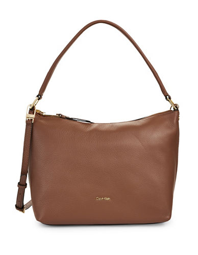 Calvin Klein Slouchy Pebble Tote-BROWN-One Size